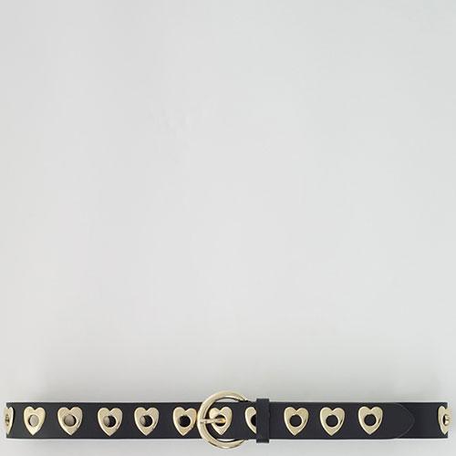 Ремень из кожи Maje с декором в виде сердец, фото