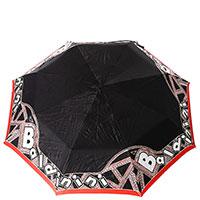 Складной зонт-автомат Baldinini черного цвета, фото