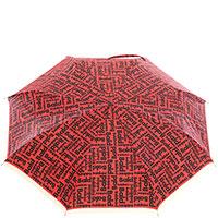 Зонт-автомат Baldinini красного цвета с лого, фото