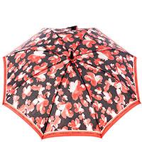 Женский зонт-трость Ferre черно-красный, фото
