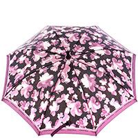 Женский зонт-трость Ferre черный с фиолетовым, фото