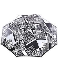 Черно-белый зонт-автомат Baldinini с логотипом, фото