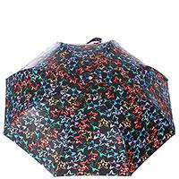 Зонт-полуавтомат Baldinini черного цвета со звездами, фото
