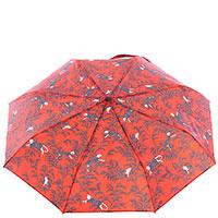 Зонт-автомат Baldinini красного цвета с принтом, фото