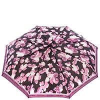 Женский зонт-автомат Ferre черный с фиолетовым, фото