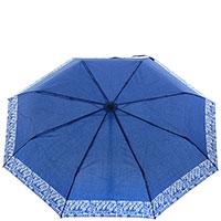 Женский зонт-автомат Ferre синего цвета , фото