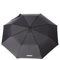 Зонт-полуавтомат складной Baldinini черного цвета, фото