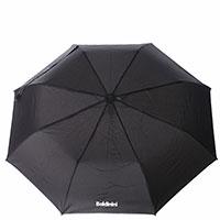 Черный зонт-полуавтомат Baldinini складной, фото