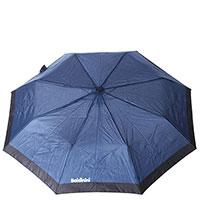 Синий зонт-полуавтомат Baldinini складной, фото