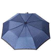 Зонт-полуавтомат Baldinini синего цвета в клетку, фото