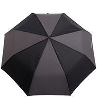 Мужской зонт-автомат Baldinini черно-серый, фото