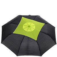 Женский зонт-полуавтомат Ferre черного цвета, фото