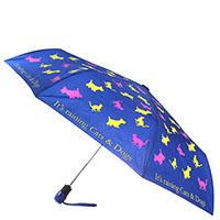 Синий складной зонт Boutique Moschino с принтом в виде животных, фото