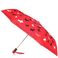 Красный складной зонт Boutique Moschino с принтом в виде животных, фото