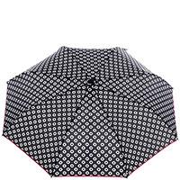 Женский зонт-полуавтомат Ferre черно-белый, фото