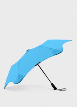 Складной зонт Blun Metro 2.0 голубого цвета, фото