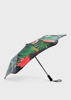 Складной зонт Blun Metro 2.0 с цветочным принтом, фото