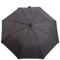 Складной зонт Ferre черный в бордовую полоску, фото