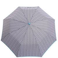 Зонт-полуавтомат Ferre с голубой окантовкой, фото
