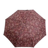 Зонт-полуавтомат Ferre бордовый с принтом, фото