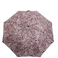Зонт-полуавтомат Ferre коричнево-белый в 2 сложения, фото