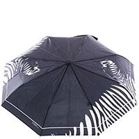 Зонт-автомат Ferre черно-бежевого цвета, фото