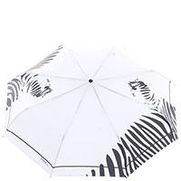 Зонт-автомат Ferre белый с черными полосами, фото