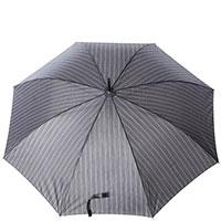 Зонт-трость Ferre GR-4 серого цвета в полоску, фото