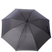 Зонт-трость Ferre GR-4 в черно-серой гамме, фото