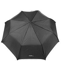 Черный зонт Ferre с белой окантовкой, фото