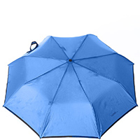 Зонт-полуавтомат Ferre синего цвета с окантовкой, фото
