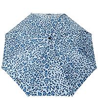 Складной зонт Ferre LA-367 голубого цвета с принтом, фото
