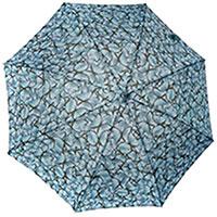 Зонт-трость Ferre серый с принтом-бабочки, фото