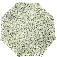 Зонт-трость Ferre зеленого цвета с бабочками, фото