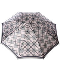 Зонт-трость Ferre в клетку серого цвета , фото