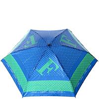 Механический зонт Ferre синий с зеленой полоской, фото