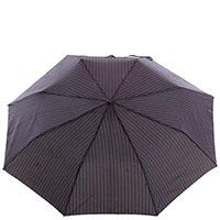 Зонт-полуавтомат Ferre черного цвета в полоску, фото
