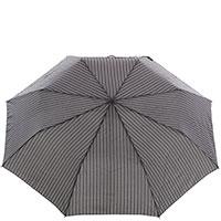 Зонт-полуавтомат Ferre серого цвета в полоску, фото