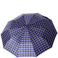 Зонт-полуавтомат Ferre синий в клетку, фото