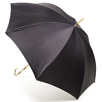 Зонт-трость Pasotti двухцветный с золотистой рукояткой, фото