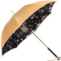 Зонт золотистого цвета Pasotti с камнем на ручке, фото