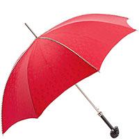Красный зонт-трость Pasotti с декором-шипами, фото