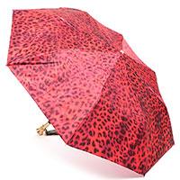 Складной зонт Pasotti красный с животным принтом, фото