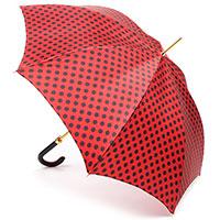 Красный зонт-трость Pasotti в горох, фото