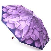 Складной зонт Pasotti с крупным фиолетовым цветком, фото