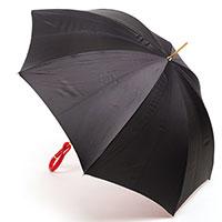 Двухцветный зонт Pasotti черный с красным, фото