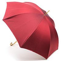Красный зонт Pasotti с цветами на внутренней стороне, фото