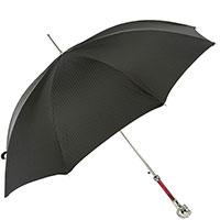 Черный зонт-трость Pasotti с ручкой в виде лошади, фото