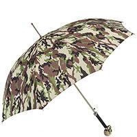 Камуфляжный зонт-трость Pasotti с ручкой-черепом, фото