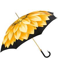 Желтый зонт-трость Pasotti с принтом-лепестками, фото